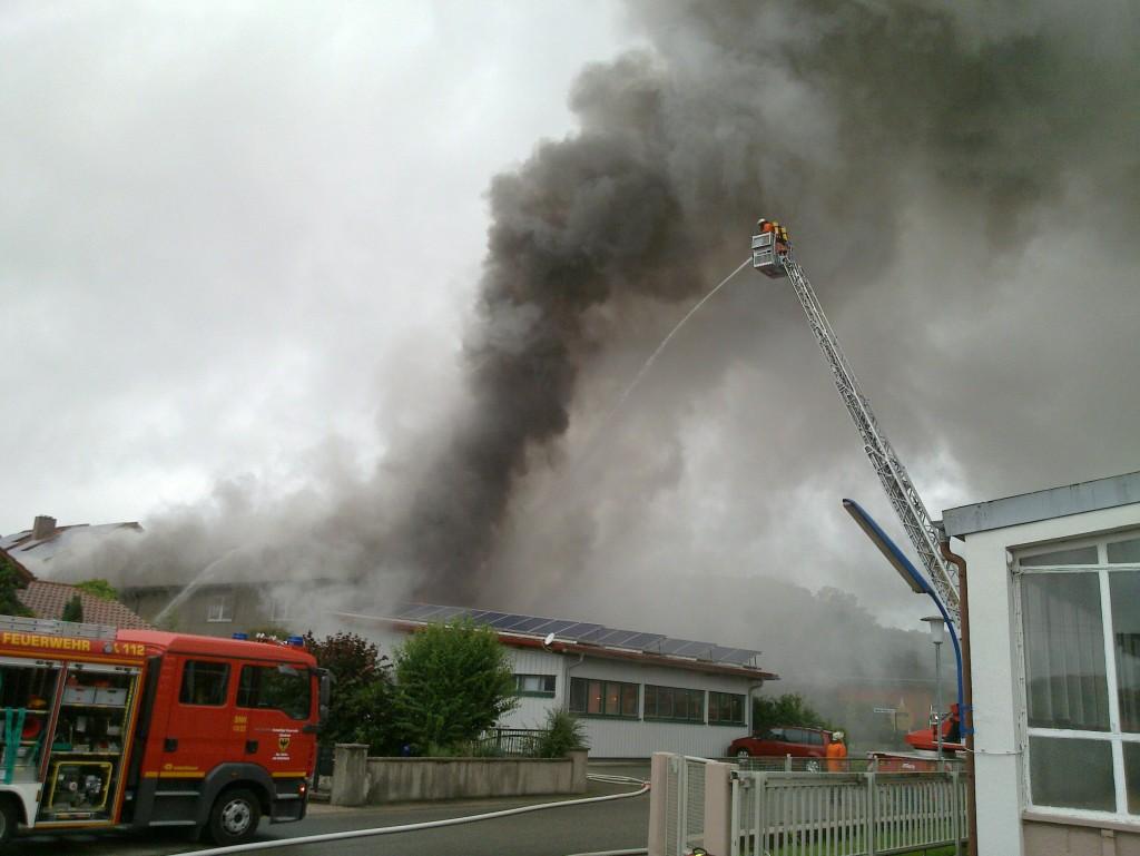 Feuerwehreinsatz Hilsbach 13.07.2012